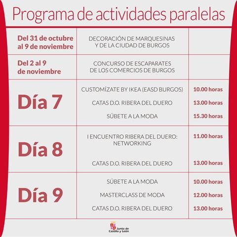 CALENDARIO ACTIVIDADES PASARELA